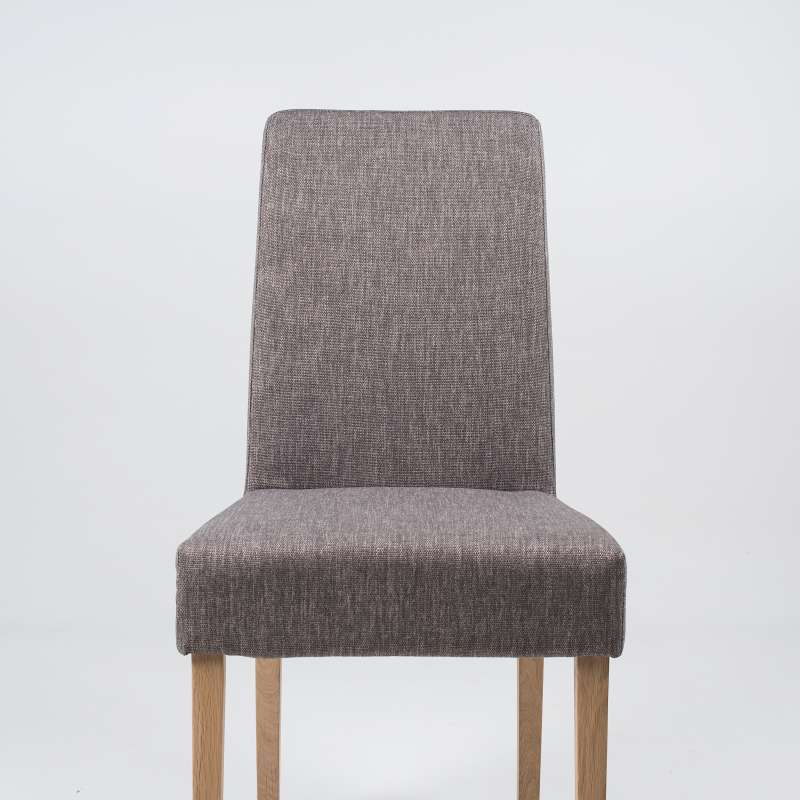 chaise de salle manger en tissu et bois massif gaby mobitec 4. Black Bedroom Furniture Sets. Home Design Ideas