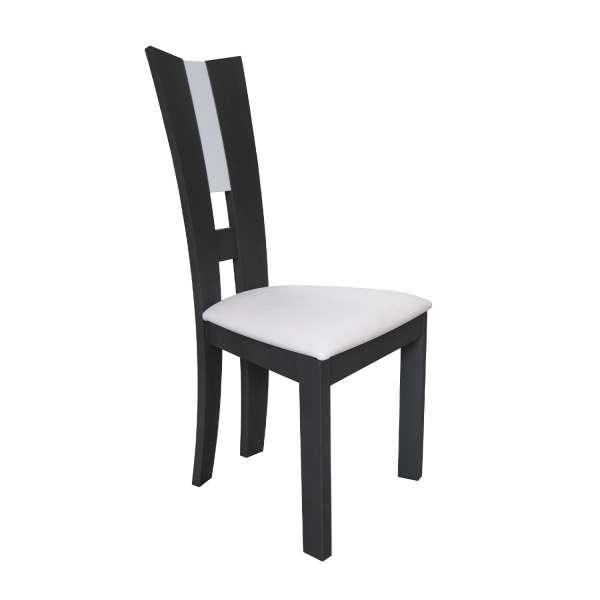 Chaise de salle à manger contemporaine française en synthétique et bois massif - Floriane