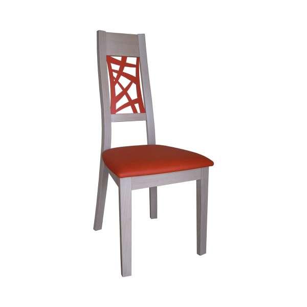Chaise de salle à manger contemporaine française en bois et synthétique – Loane