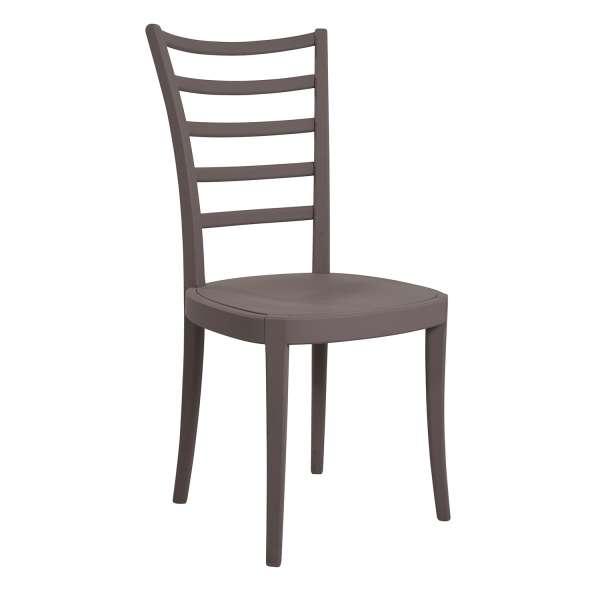 Chaise de cuisine en bois contemporaine anthracite mat - Pemp