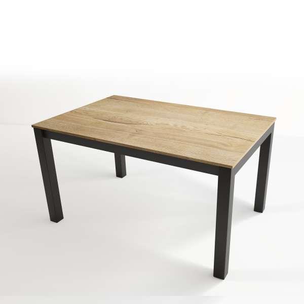 Table extensible en stratifié et pieds en métal - Tokio