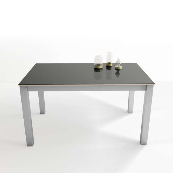 table rectangulaire en verre extensible tokio 4. Black Bedroom Furniture Sets. Home Design Ideas