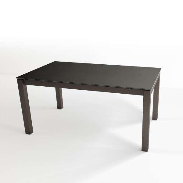 Table contemporaine extensible en céramique et métal - Tokio