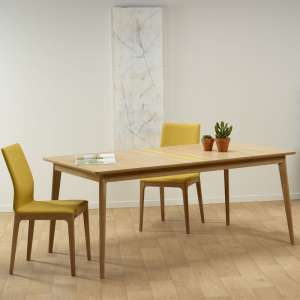 Table en bois scandinave fabriquée en France avec liseré coloré - Paul 666