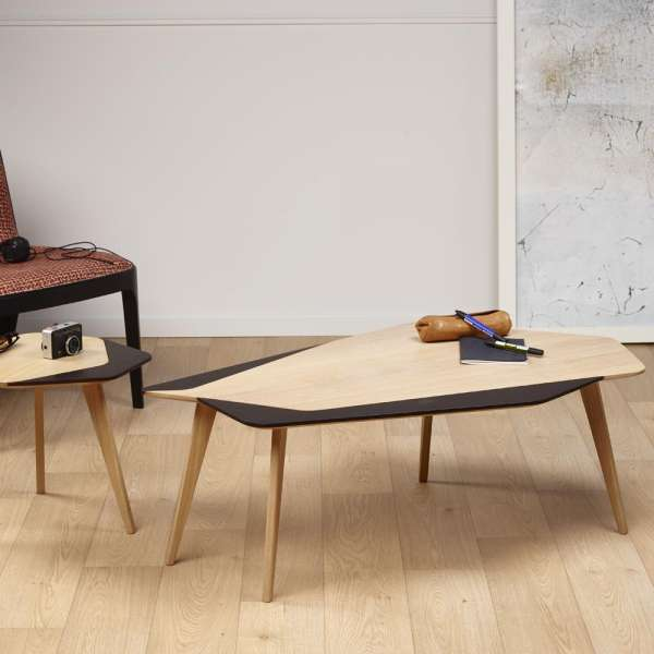 table basse scandinave en bois massif fabrication fran aise flo 71 4 pieds tables chaises. Black Bedroom Furniture Sets. Home Design Ideas