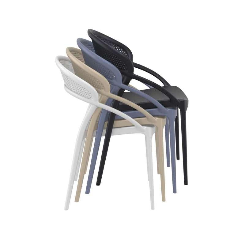 Chaise Design Empilable En Polypropylne