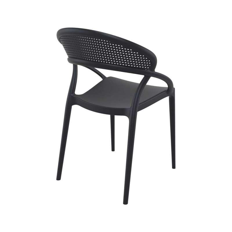 chaise design de jardin empilable en polypropyl ne sunset 4. Black Bedroom Furniture Sets. Home Design Ideas