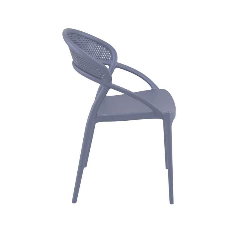 Chaise Design De Jardin Empilable En Plastique Gris