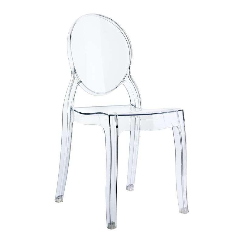 chaise enfant en plexi transparente elizabeth 4 pieds tables chaises et tabourets. Black Bedroom Furniture Sets. Home Design Ideas