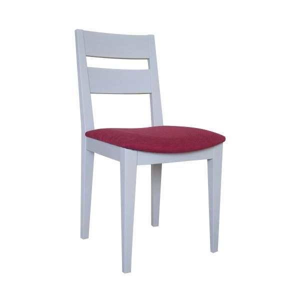 Chaise fran aise de salle manger en tissu et bois massif oph ly 4 - Chaises salle a manger bois et tissu ...
