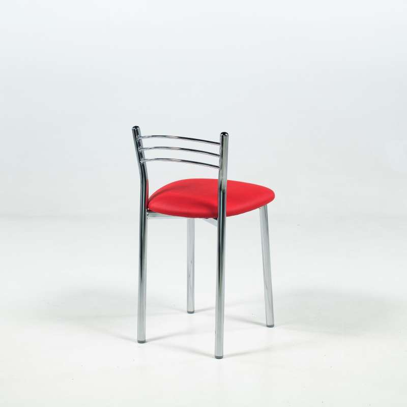 tabouret bas de cuisine rembourr assise synth tique et structure m tal marta 4 pieds. Black Bedroom Furniture Sets. Home Design Ideas