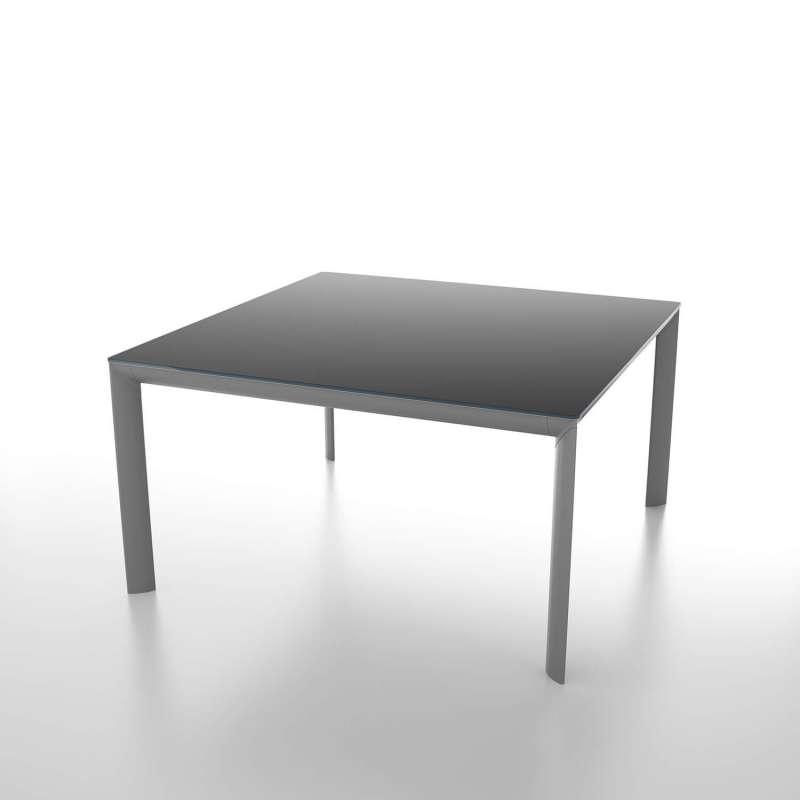 Table Carrée Extensible En Verre Trempé Et Métal Cocoon 4 Piedscom