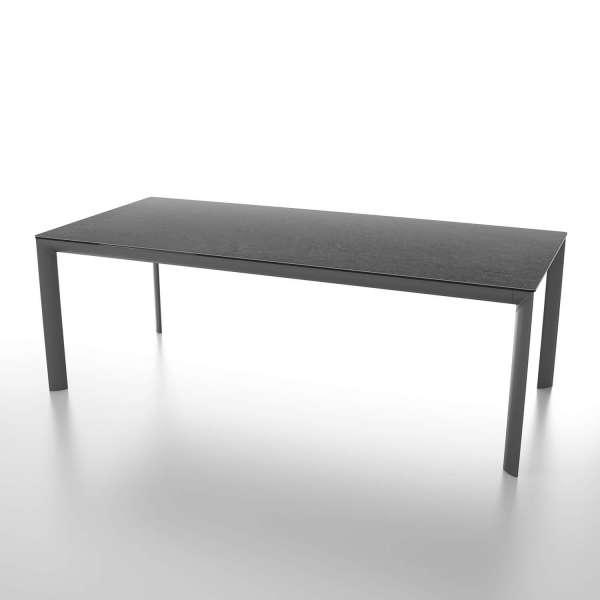 Table italienne rectangulaire extensible en céramique contemporaine - Cocoon