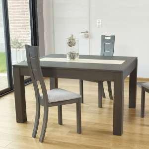 Table contemporaine en bois extensible avec chemin de table en céramique - MRC410