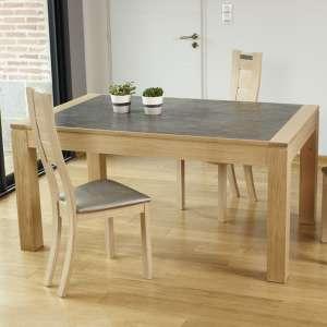 Table contemporaine extensible en céramique et bois made in France - MRC41
