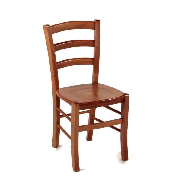 chaise de cuisine rustique en bois massif avec assise bois broc liande 4. Black Bedroom Furniture Sets. Home Design Ideas
