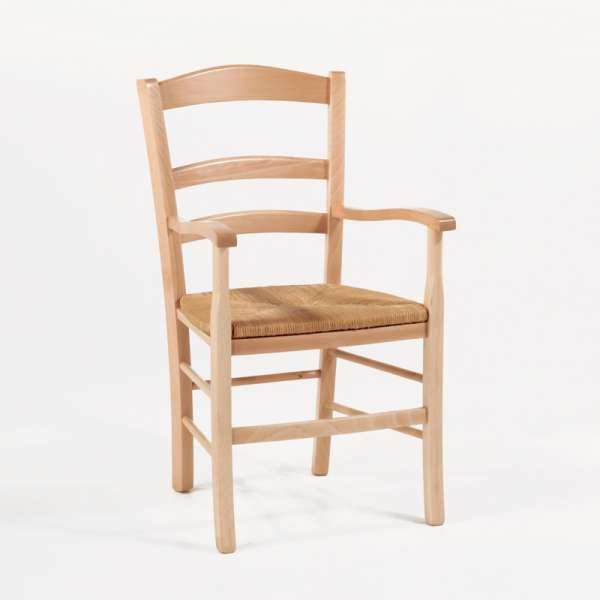 fauteuil en bois rustique et paille brocliande - Fauteuil En Bois