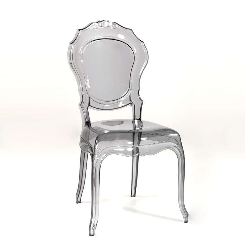Chaise Transparente Grise Style Rgence