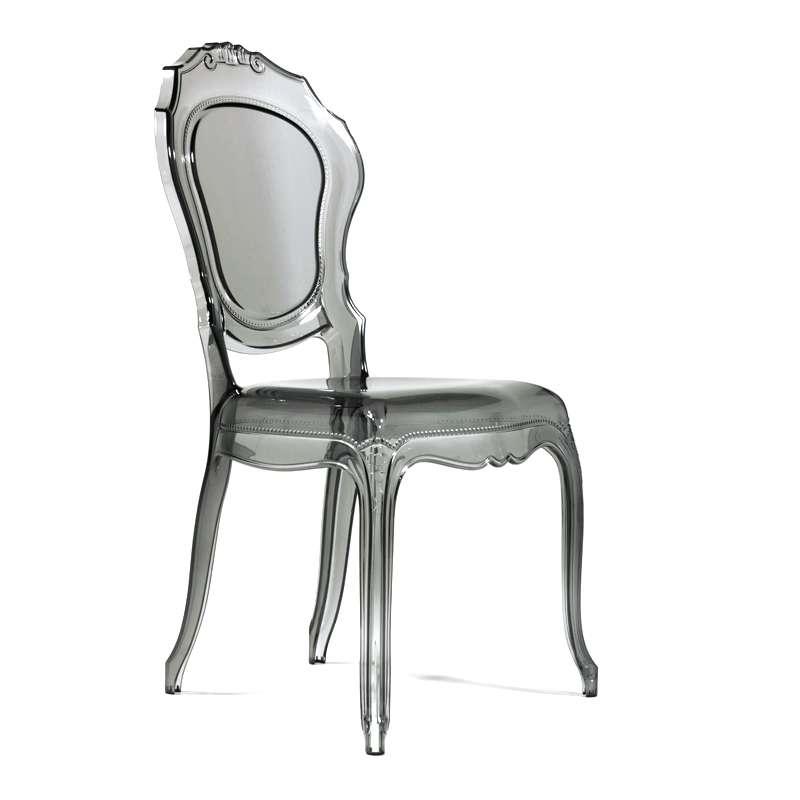 chaise louis xv transparente grise belle poque 12 - Chaise Plexi Transparente