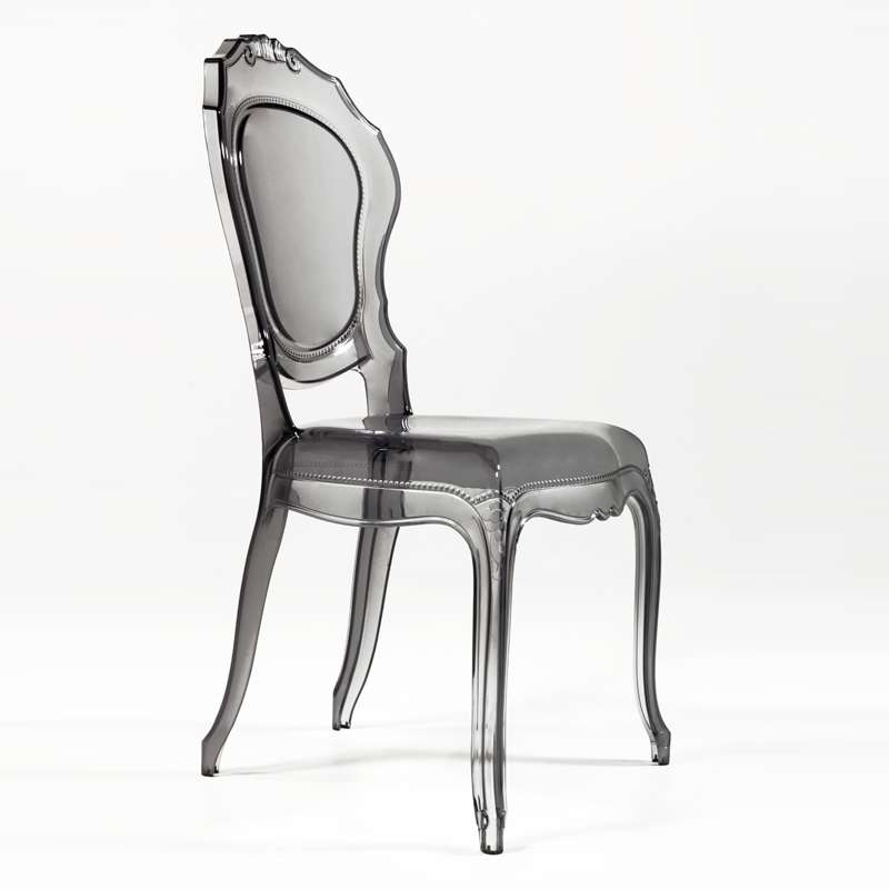 chaise design louis xv en polycarbonate transparent belle epoque 24 - Chaise Transparente