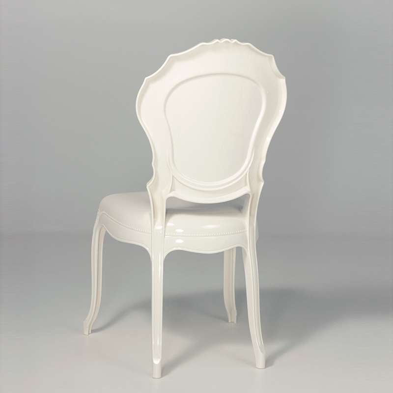 Chaise Style Louis 15 Blanche Opaque
