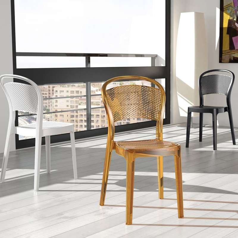 chaise moderne en polycarbonate bee 4. Black Bedroom Furniture Sets. Home Design Ideas