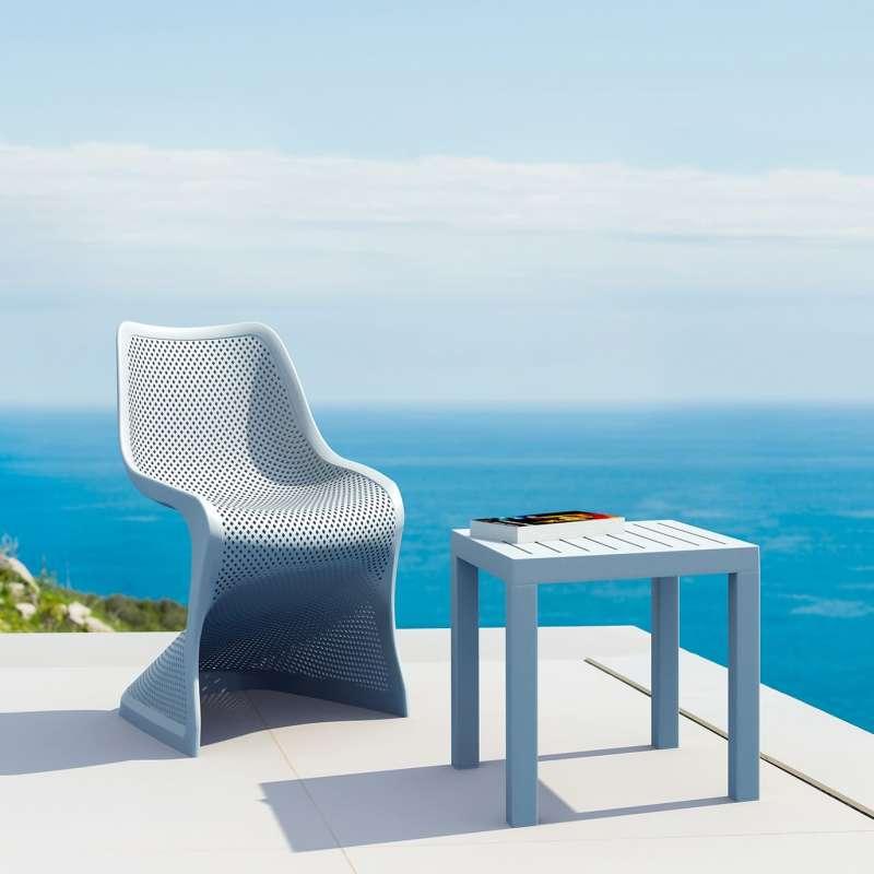 Chaise de jardin design ajourée en polypropylène - Bloom | 4-pieds.com