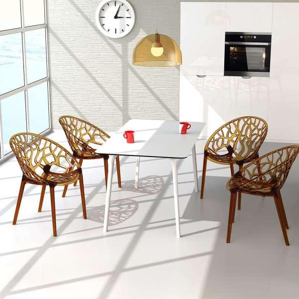 Chaise design en polycarbonate - Crystal