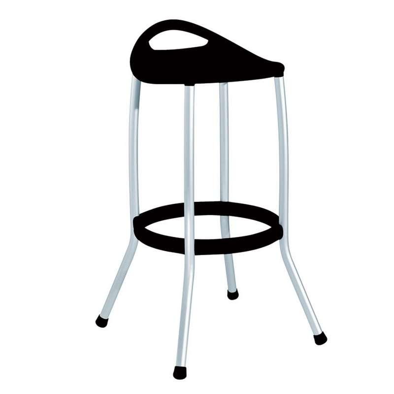 tabouret sans dossier en plastique et aluminium anodis max 4. Black Bedroom Furniture Sets. Home Design Ideas