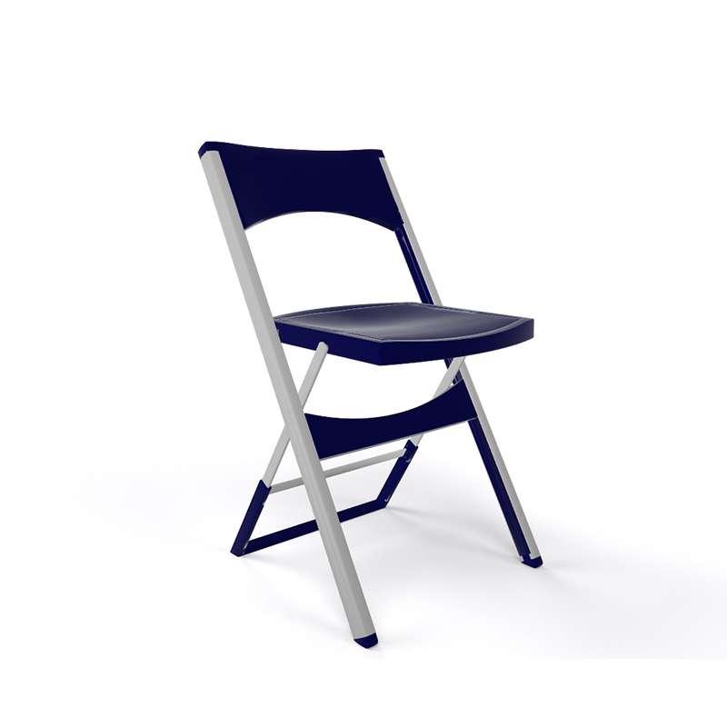 Chaise Pliante Solide En Technopolymre Bleu Nuit Et Mtal Aluminium