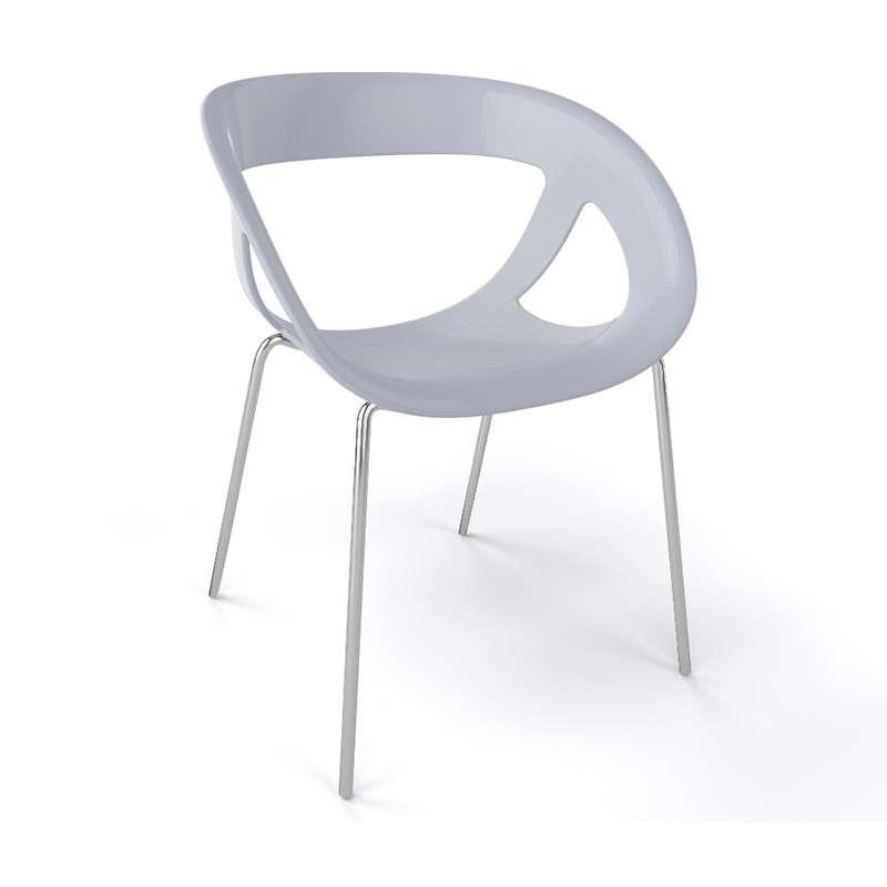 fauteuil de designer italien empilable avec coque ajour e et pieds en m tal moema 4. Black Bedroom Furniture Sets. Home Design Ideas