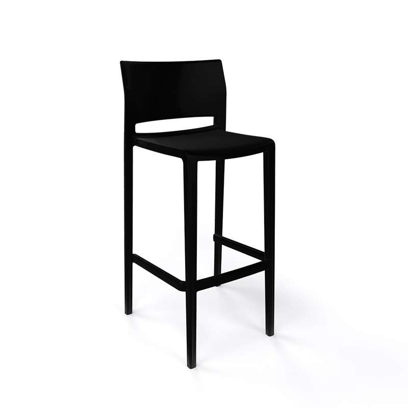 tabouret de bar d 39 ext rieur empilable bakhita 4 pieds. Black Bedroom Furniture Sets. Home Design Ideas