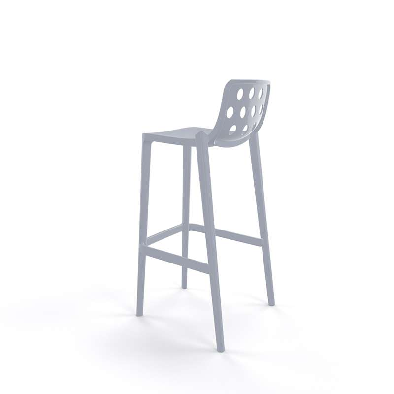 tabouret de bar moderne empilable avec dossier ronds ajour s isidoro 4. Black Bedroom Furniture Sets. Home Design Ideas