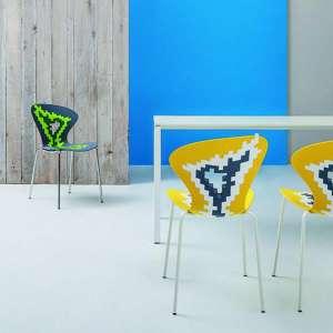 Chaise multicolore de designer empilable - Big Bang
