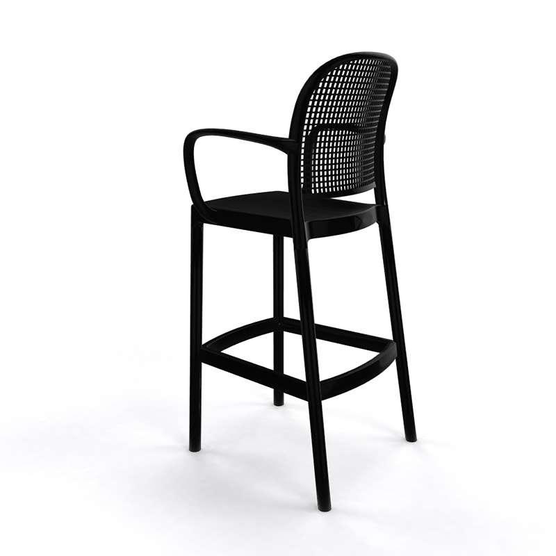 tabouret de bar moderne avec dossier en plastique panama. Black Bedroom Furniture Sets. Home Design Ideas