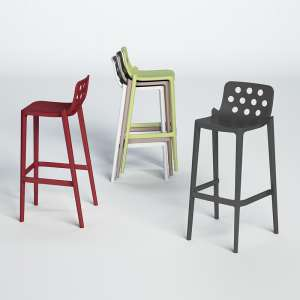Tabouret snack moderne empilable - Isidoro