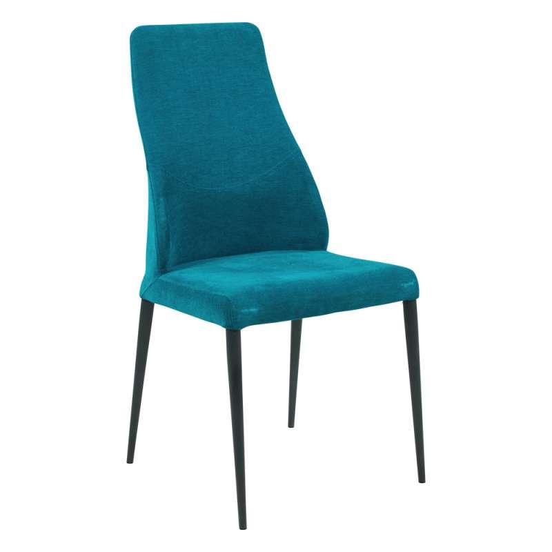 chaise de salle à manger italienne moderne en tissu et ...