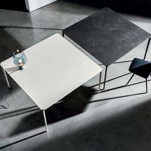 Table carrée design italienne en céramique et métal - Slim Sovet®