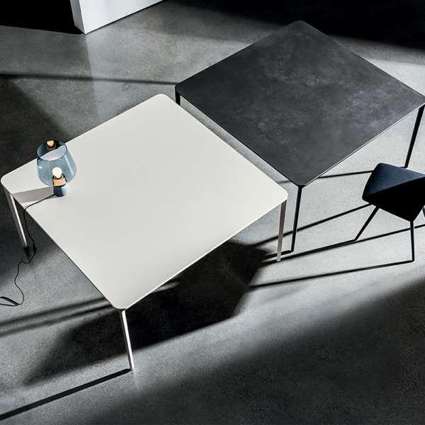 table carr e design italienne en c ramique et m tal slim sovet 4. Black Bedroom Furniture Sets. Home Design Ideas