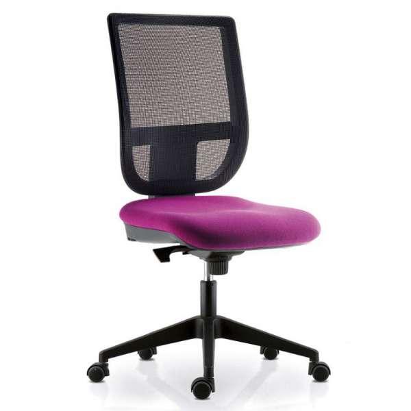 Chaise De Bureau Avec Dossier En Resille Sur Roulettes Tertio 4