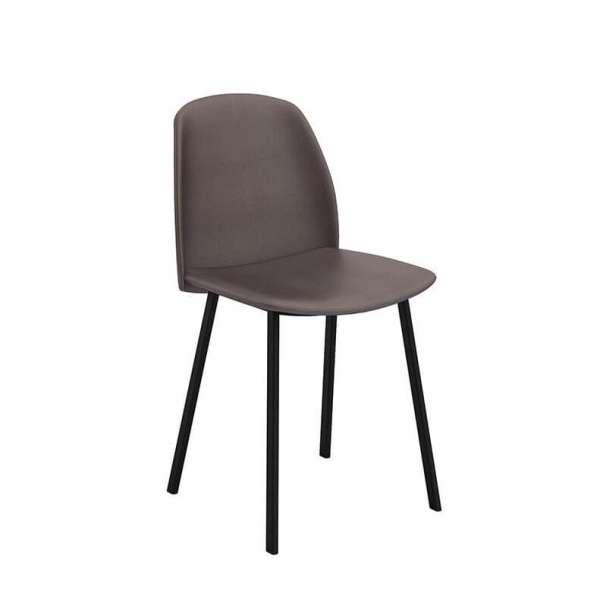 chaise tendance rembourr e avec pieds en m tal olivia. Black Bedroom Furniture Sets. Home Design Ideas