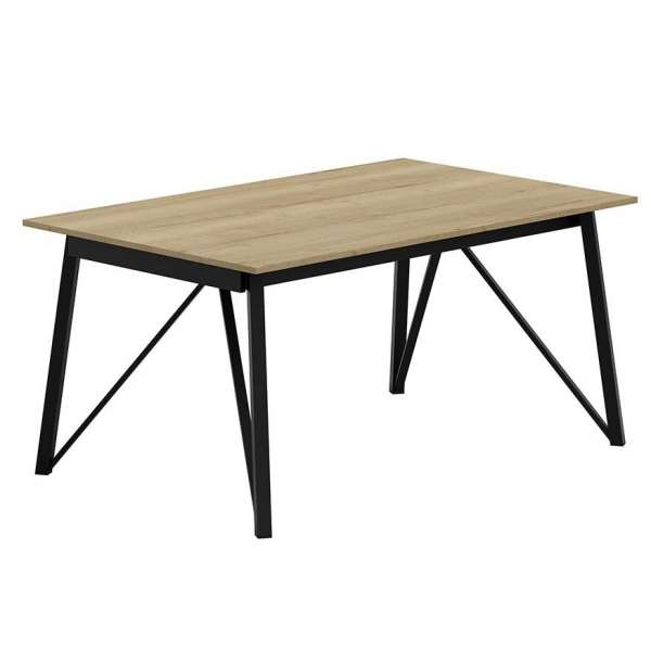 table design industriel extensible en stratifi et pieds. Black Bedroom Furniture Sets. Home Design Ideas