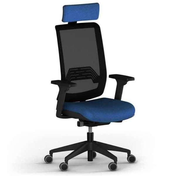 Fauteuil de bureau avec dossier en résille à roulettes - Wi-Max
