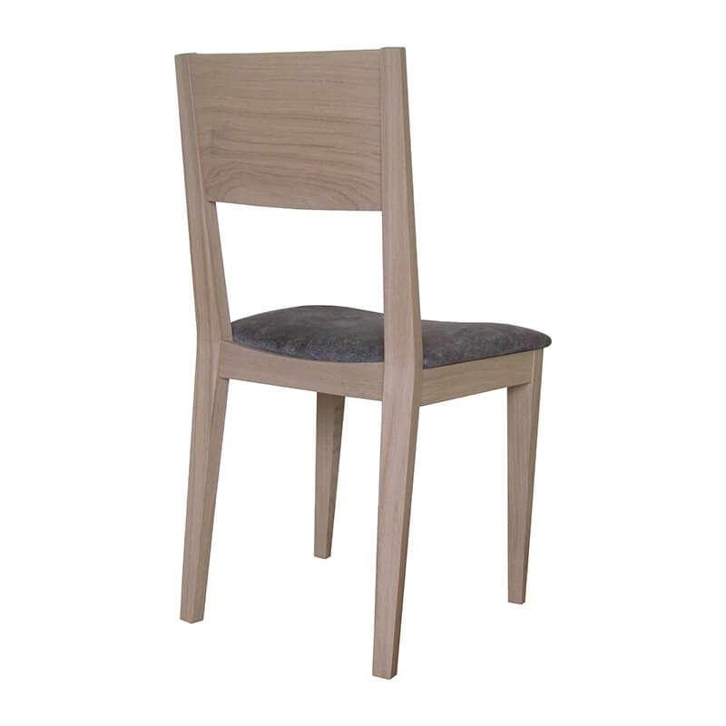Chaise de salle manger en tissu et bois massif made in france oc ane 4 - Chaises salle a manger bois et tissu ...