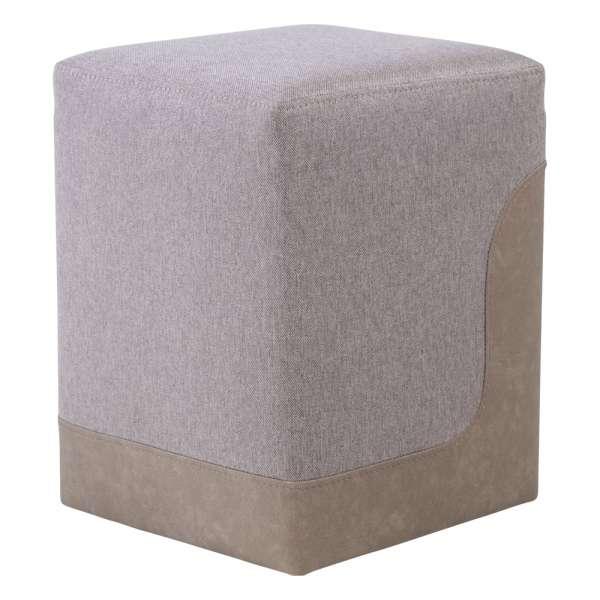 Pouf carré bicolore et bimatière - Piaf