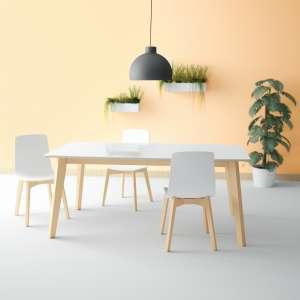 Table design extensible en verre - forme elliptique - Eclipse 4