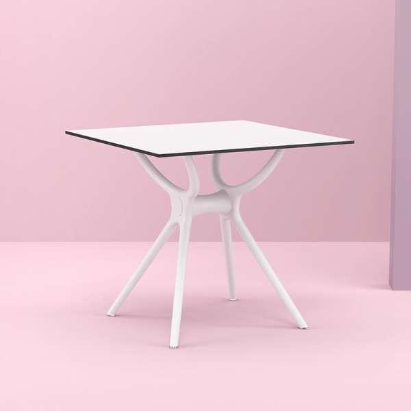 Table carrée petit espace en stratifié et polypropylène - Air