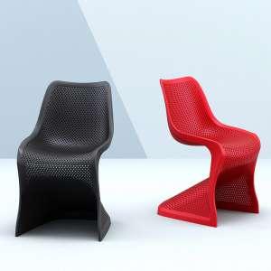 Chaise design en polypropylène ajouré - Bloom
