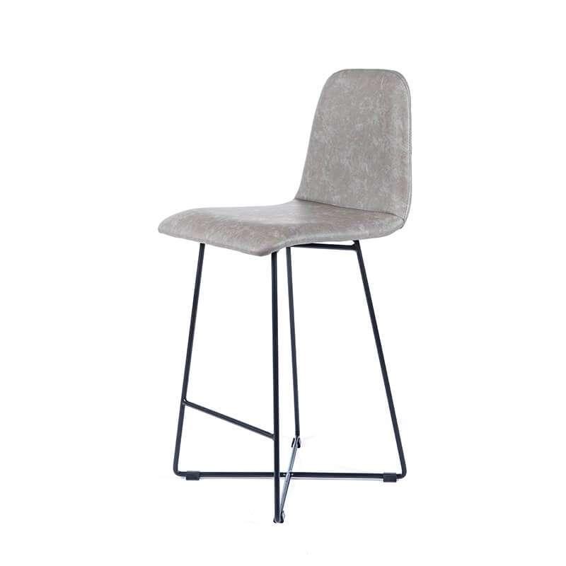 tabouret snack scandinave rembourr avec pieds en m tal pandora 4. Black Bedroom Furniture Sets. Home Design Ideas