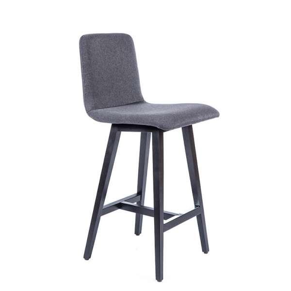 tabouret snack style scandinave en tissu et pieds bois plaza 4. Black Bedroom Furniture Sets. Home Design Ideas